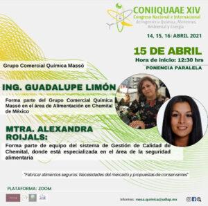 CHEMITAL PONENTE EN EL CONGRESO CONIIQUAAE XIV – Abril 2021